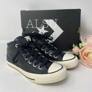 Converse Ctas High Street Leather HI Black W